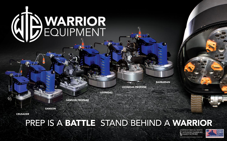Warrior Equipment Concrete Grinders Floor Polishers